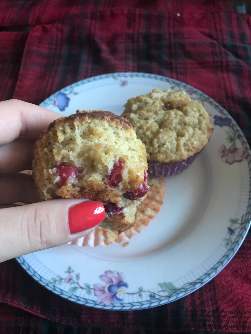 Use Leftover Cranberries for Cranberry Oatmeal Muffins